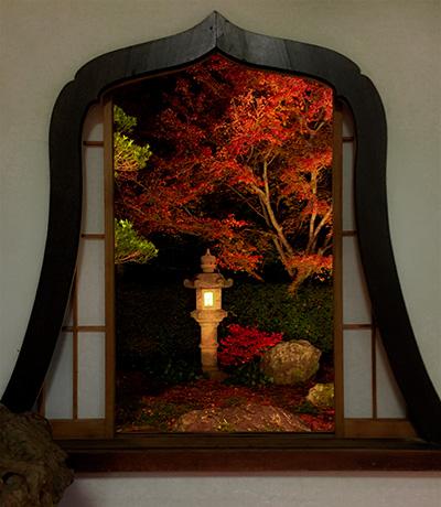 天得院秋の特別拝観の華頭窓